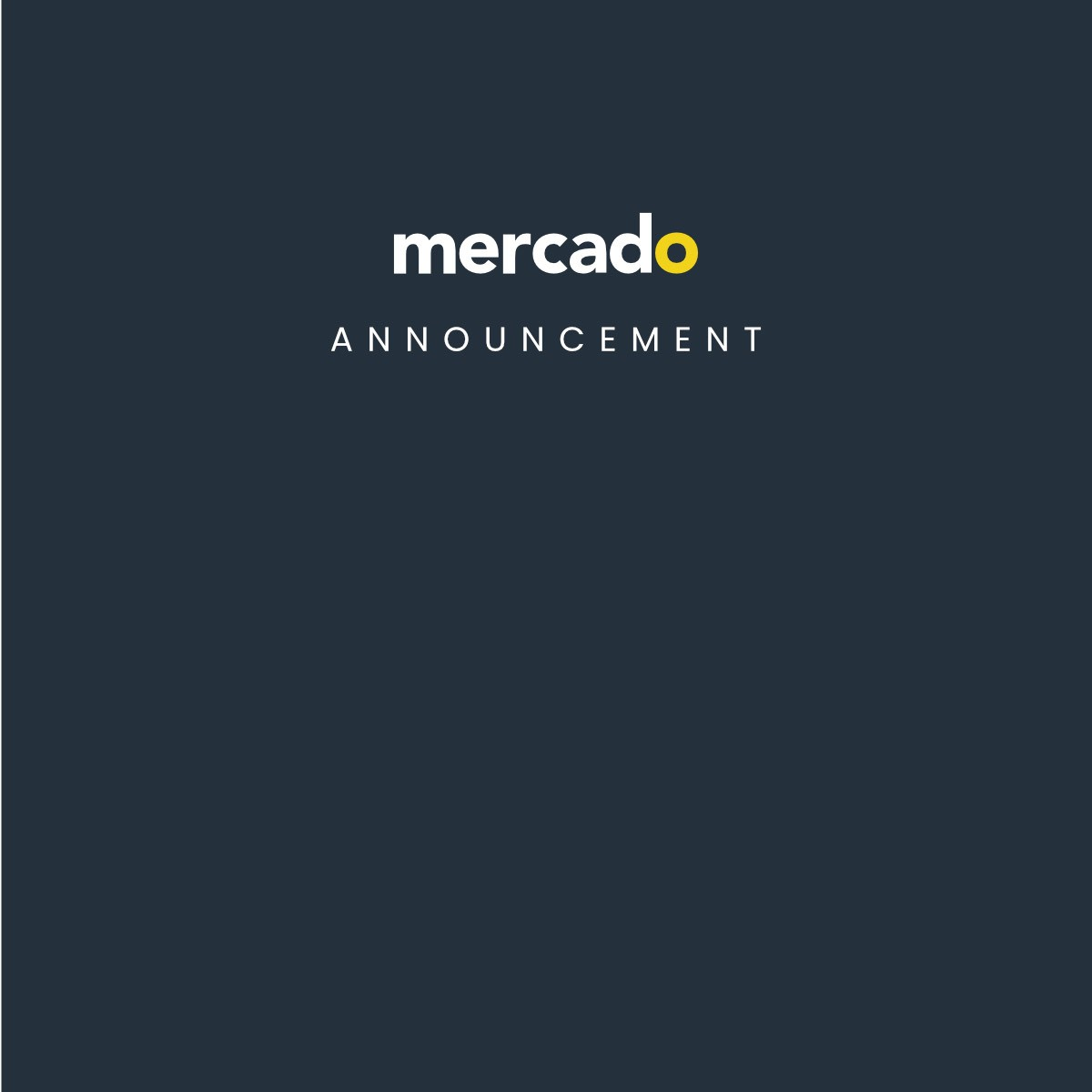 Mercado | Announcement - Mercado & Whitmor Partnership
